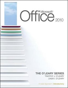 Abbildung von ISE MICROSOFT OFFICE 2010: A CASE APPROACH INTRODUCTORY | 2011
