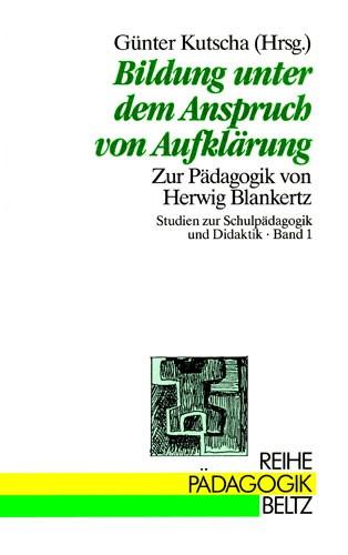 Abbildung von Kutscha | Bildung unter dem Anspruch von Aufklärung | 1989
