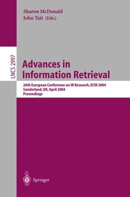 Abbildung von McDonald / Tait | Advances in Information Retrieval | 2004 | 26th European Conference on IR... | 2997