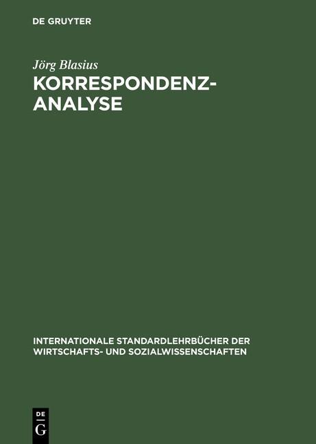 Abbildung von Blasius | Korrespondenzanalyse | Reprint 2014 | 2001