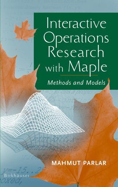 Abbildung von Parlar | Interactive Operations Research with Maple | 2000