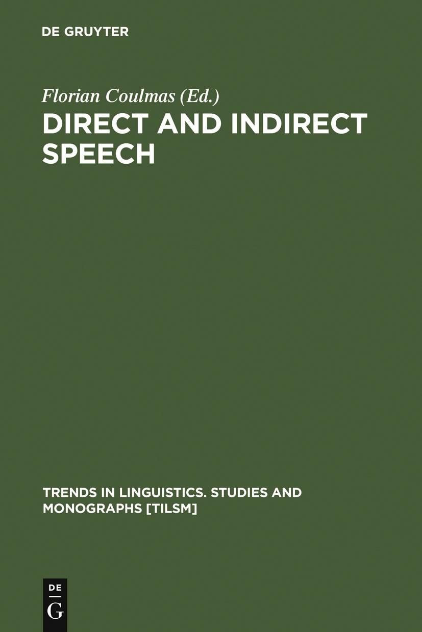 Abbildung von Coulmas   Direct and Indirect Speech   1986   1986