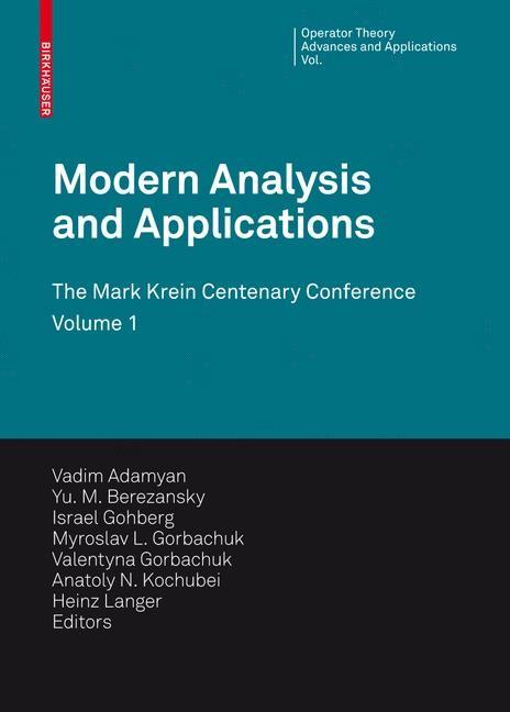 Abbildung von Adamyan / Berezansky / Gohberg / Gorbachuk / Kochubei / Langer / Popov | Modern Analysis and Applications | 2009