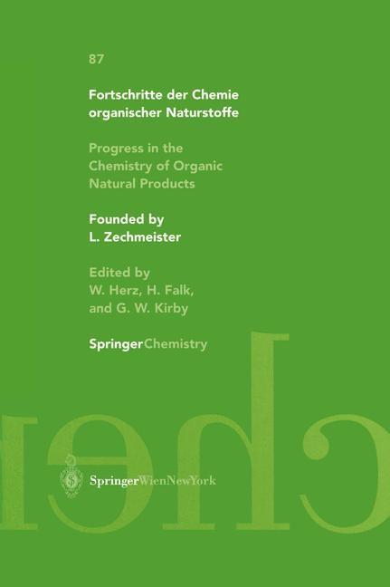 Abbildung von Budzikiewicz / Flessner / Jautelat | Progress in the Chemistry of Organic Natural Products | 2003