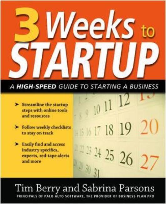 Abbildung von Berry / Parsons | 3 Weeks to Startup | 2009