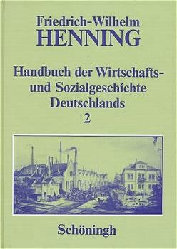 Abbildung von Henning | Handbuch der Wirtschafts- und Sozialgeschichte Deutschlands | 1996