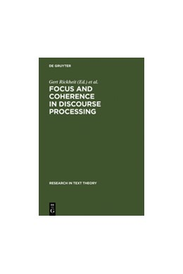 Abbildung von Rickheit / Habel | Focus and Coherence in Discourse Processing | Reprint 2011 | 1995 | 22