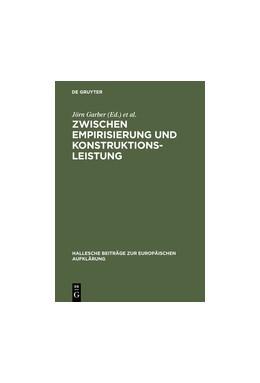Abbildung von Garber / Thoma   Zwischen Empirisierung und Konstruktionsleistung   Reprint 2013   2004   Anthropologie im 18. Jahrhunde...   24