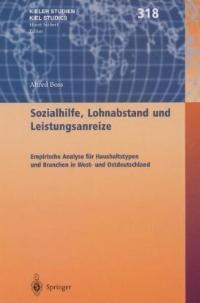 Sozialhilfe, Lohnabstand und Leistungsanreize | Boss, 2002 | Buch (Cover)