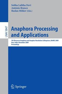 Abbildung von Sobha / Branco / Mitkov   Anaphora Processing and Applications   2009   7th Discourse Anaphora and Ana...