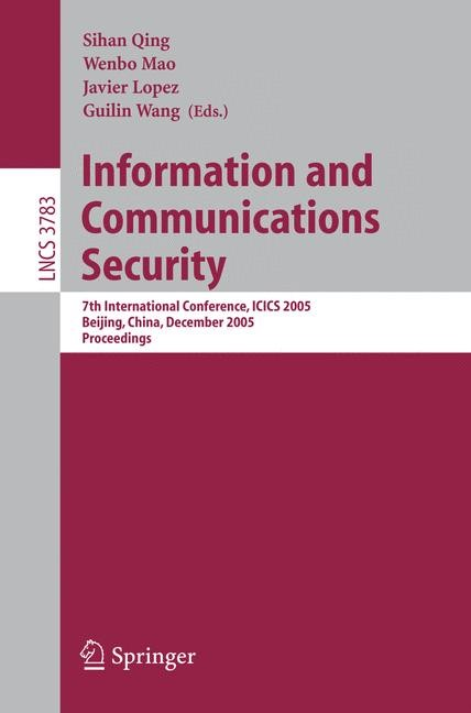 Abbildung von Mao / Wang | Information and Communications Security | 2005