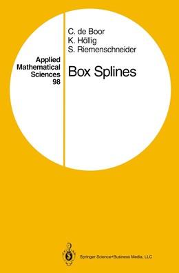 Abbildung von Boor / Höllig / Riemenschneider | Box Splines | 1993 | 98
