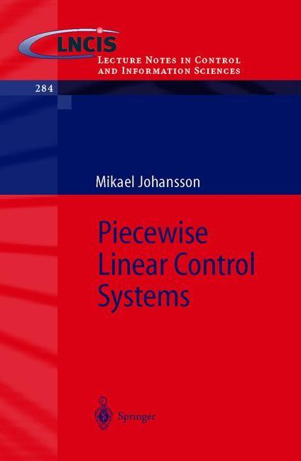 Abbildung von Johansson | Piecewise Linear Control Systems | 2002