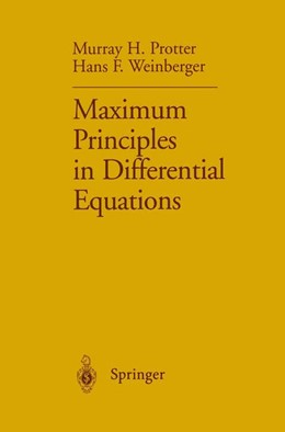 Abbildung von Protter / Weinberger | Maximum Principles in Differential Equations | 1st ed. 1967. Corr. 3rd printing | 1999