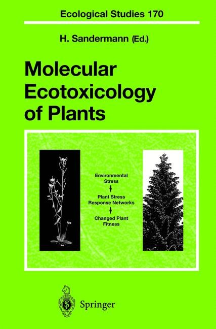 Abbildung von Sandermann | Molecular Ecotoxicology of Plants | 2003