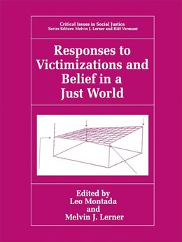 Abbildung von Montada / Lerner | Responses to Victimizations and Belief in a Just World | 1998