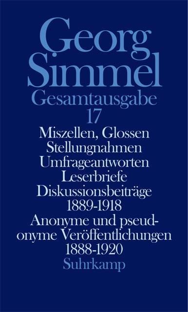 Abbildung von Simmel / Köhnke | Gesamtausgabe in 24 Bänden | 2004