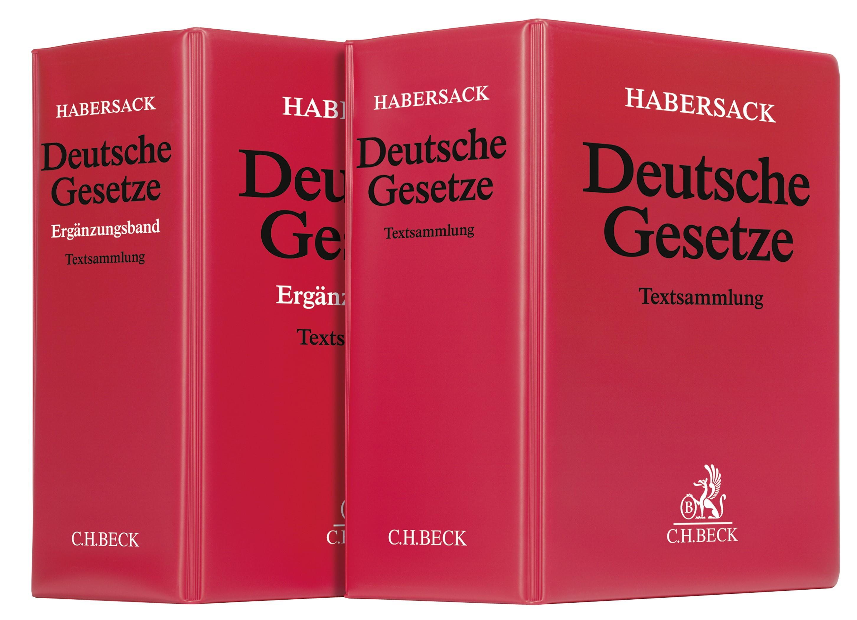 Deutsche Gesetze: Textsammlung mit Ergänzungsband • Set | Schönfelder (Cover)