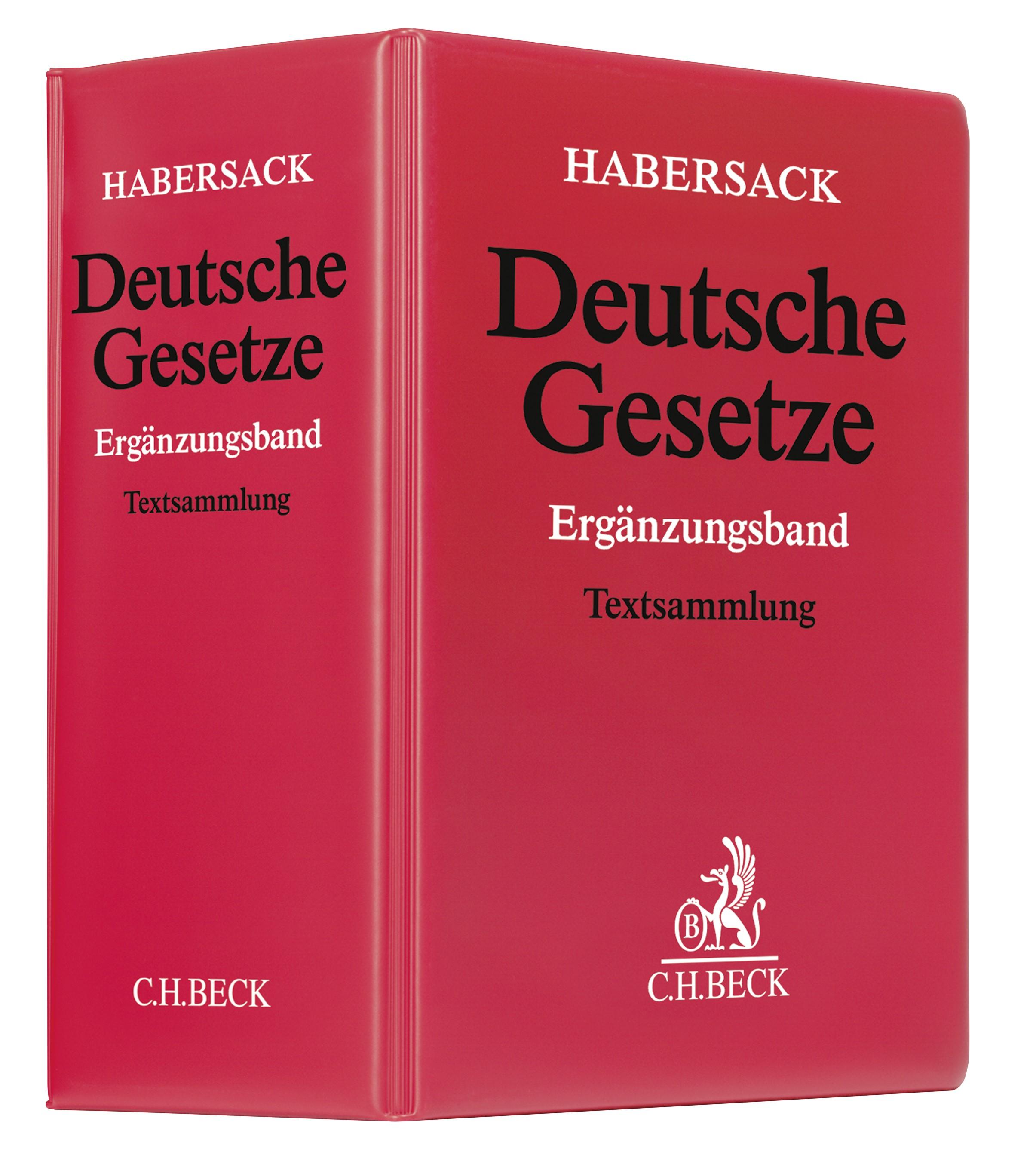 Deutsche Gesetze: Ergänzungsband | Schönfelder | 55. Auflage (Cover)