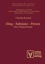 Abbildung von Kanzian | Ding – Substanz – Person | 2009