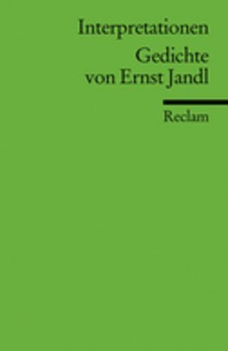 Abbildung von Pfoser / Kaukoreit | Interpretationen: Gedichte von Ernst Jandl | 2002