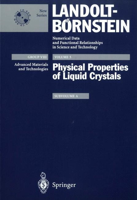 Abbildung von Pestov / Vill | Physical Properties of Liquid Crystals | 2003