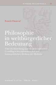 Abbildung von Cheneval | Philosophie in weltbürgerlicher Bedeutung | 2002