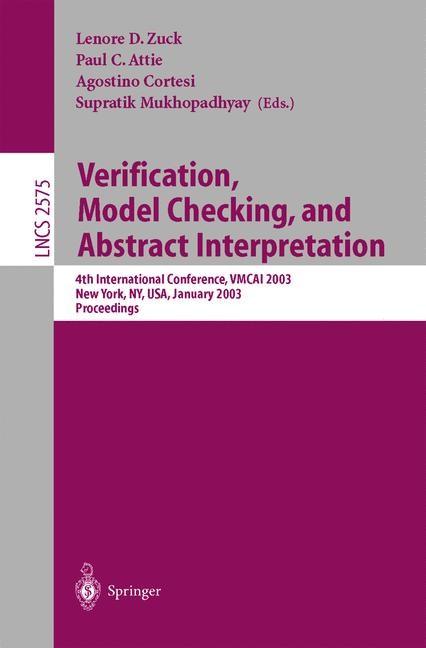 Abbildung von Zuck / Attie / Cortesi / Mukhopadhyay | Verification, Model Checking, and Abstract Interpretation | 2002