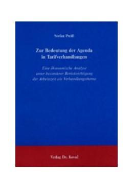 Abbildung von Preiß | Zur Bedeutung der Agenda in Tarifverhandlungen | 2003 | Eine ökonomische Analyse unter... | 91