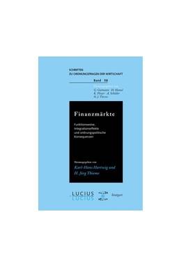 Abbildung von Hartwig / Thieme | Finanzmärkte | 1. Auflage | 1999 | beck-shop.de