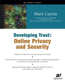 Abbildung von Curtin | Developing Trust | 1st ed. | 2001 | Online Privacy and Security
