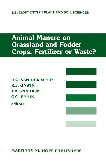 Abbildung von Meer / Unwin / van Dijk / Ennik | Animal Manure on Grassland and Fodder Crops.Fertilizer or Waste? | 1987