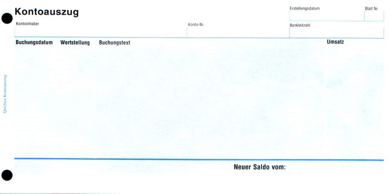 Abbildung von Kontoauszüge 100 Stück / Paket | 2006