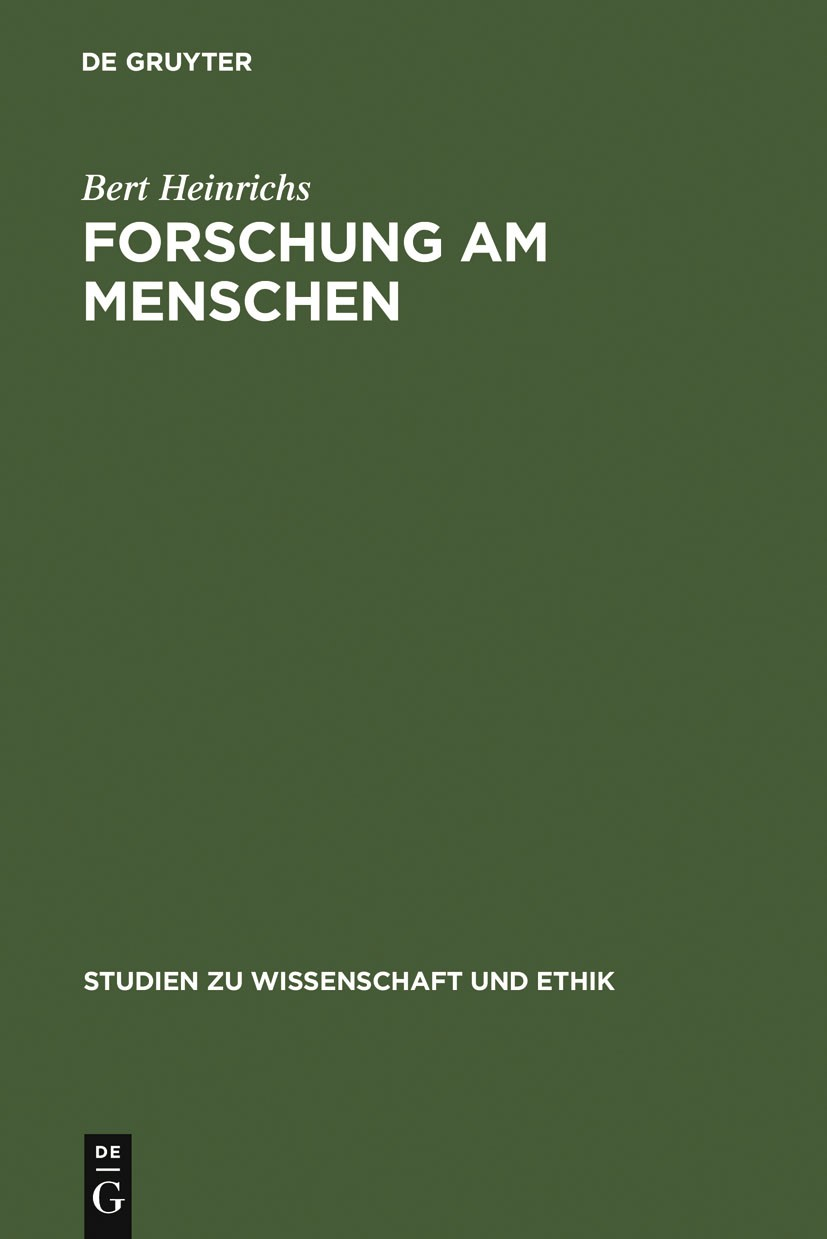 Abbildung von Heinrichs | Forschung am Menschen | Reprint 2012 | 2006