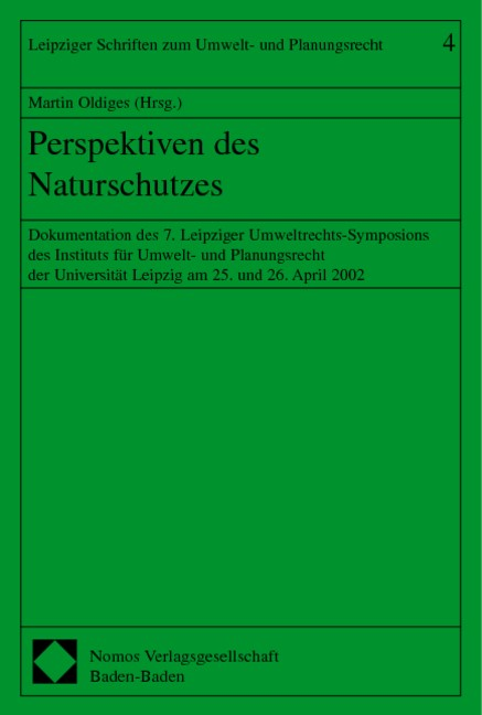 Perspektiven des Naturschutzes | Oldiges, 2003 | Buch (Cover)