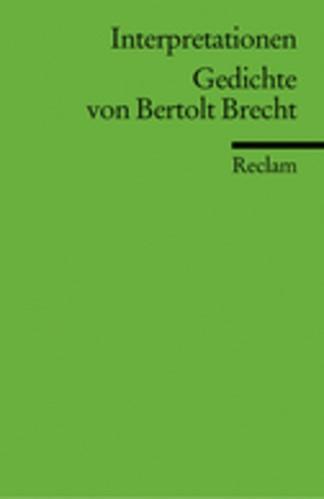 Abbildung von Knopf | Interpretationen: Gedichte von Bertolt Brecht | 1995