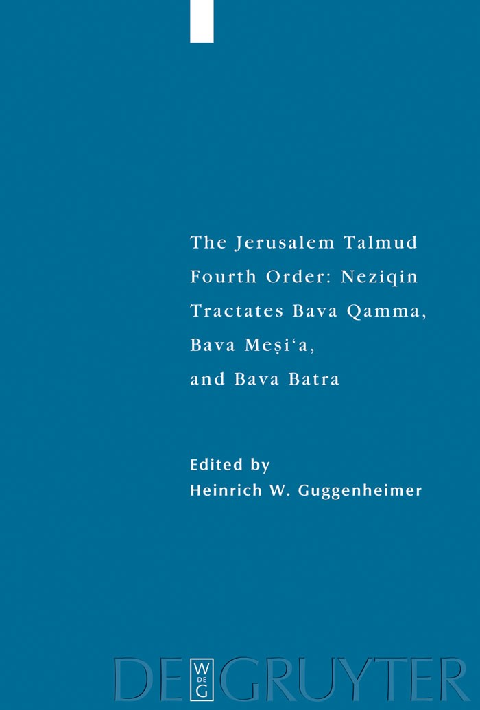 Abbildung von Guggenheimer | Tractates Bava Qamma, Bava Mesi'a, and Bava Batra | 2008