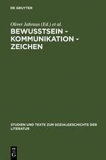 Abbildung von Jahraus / Ort   Bewußtsein – Kommunikation – Zeichen   Reprint 2011   2001