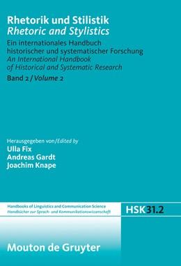 Abbildung von Fix / Gardt / Knape | Rhetorik und Stilistik / Rhetoric and Stylistics | 2009 | Ein internationales Handbuch h... | 31/2