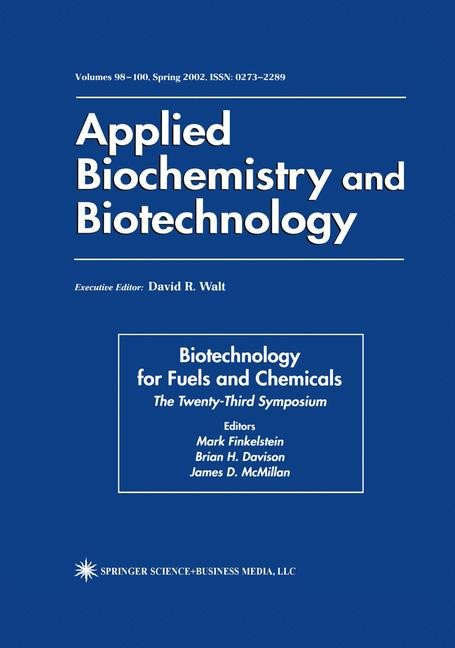 Abbildung von Finkelstein / Davison / McMillan | Biotechnology for Fuels and Chemicals | 2002