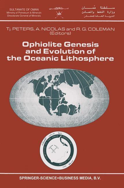 Abbildung von Peters / Nicolas / Coleman | Ophiolite Genesis and Evolution of the Oceanic Lithosphere | 1991