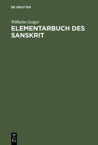 Abbildung von Geiger | Elementarbuch des Sanskrit | 3. um e. Nachtrag verm. Aufl. von 1923. Reprint 2016 | 1982