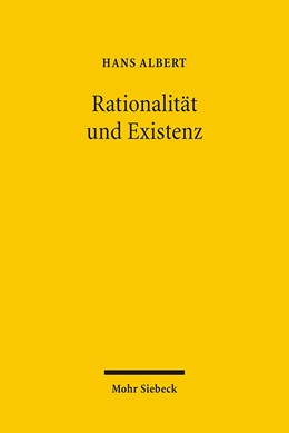 Abbildung von Albert   Rationalität und Existenz   1., Aufl.   2006   Politische Arithmetik und Poli...