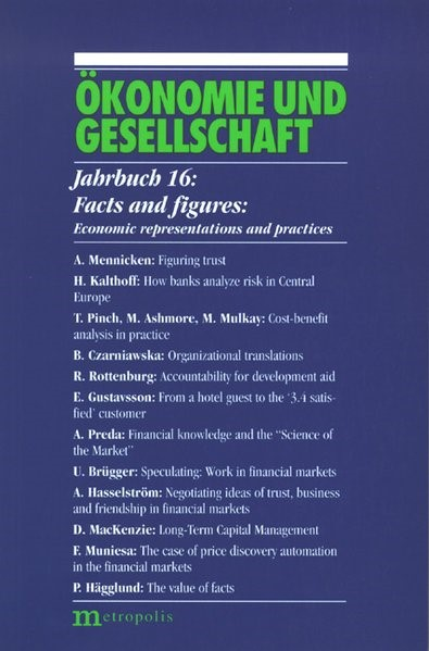 Abbildung von Kalthoff / Rottenburg / Wagener | Facts and figures