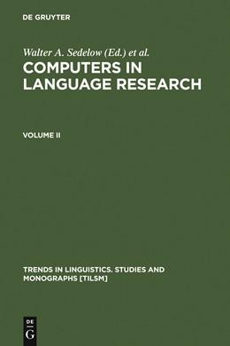 Abbildung von Sedelow / Yeates Sedelow   Computers in Language Research 2   1983   1983   Part I: Formalization in Liter...   19