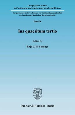 Abbildung von Schrage | Ius quaesitum tertio. | 2008 | 26