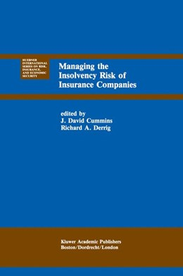 Abbildung von Cummins / Derrig | Managing the Insolvency Risk of Insurance Companies | 1991 | Proceedings of the Second Inte... | 12