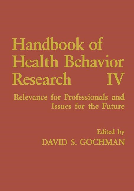 Abbildung von Gochman | Handbook of Health Behavior Research IV | 1997