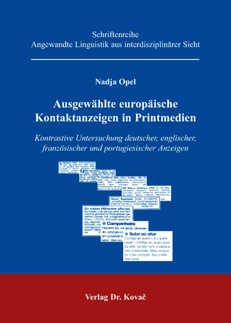 Abbildung von Opel | Ausgewählte europäische Kontaktanzeigen in Printmedien | 2007