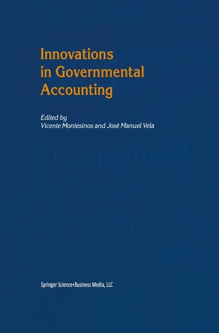 Abbildung von Montesinos / Vela | Innovations in Governmental Accounting | 2002